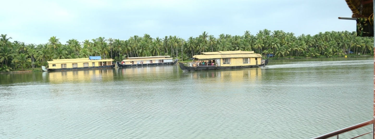 House boat in Tejaswini River